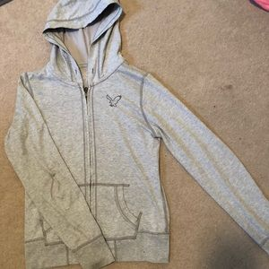American Eagle Zip Up Hooded Sweatshirt